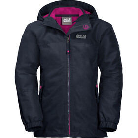 Jack Wolfskin G Iceland 3In1 Jacket Kids midnight blue